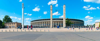 Olympic Stadium in Berlin. A photo of the olympic stadium in Berlin, so called Olympiastadion, built in 1936 to host the Summer Olympics Stock Image