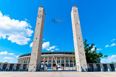 Olympic Stadium in Berlin. A photo of the olympic stadium in Berlin, so called Olympiastadion, built in 1936 to host the Summer Olympics Royalty Free Stock Photos