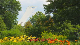 Olympic stadium and Botanical Garden Royalty Free Stock Photography