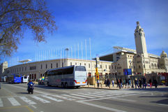 Olympic stadium boulevard,Barcelona Royalty Free Stock Image