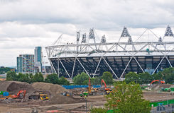 Olympic Stadium construction. Royalty Free Stock Photo