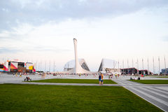 Olympic stadium Fisht in Sochi, Russia. View of the Olympic stadium Fisht in the Olympic Park Royalty Free Stock Photography