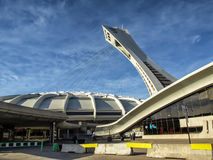 The Olympic Stadium. French: Stade olympique is a multi-purpose stadium in Canada, located at Olympic Park in the Hochelaga-Maisonneuve district of Montreal Stock Photo
