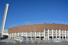 (Olympic stadium. HELSINKI FINLAND SEPTEMBER 25 2015: Olympiastadion (Olympic stadium) and tower, located in the Toolo district the largest stadium in the Stock Photo