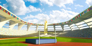 Olympic Stadium - High jump Royalty Free Stock Photography