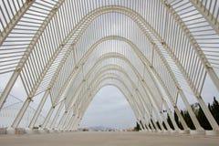 Olympic Stadium i Athens, Grekland Arkivfoton