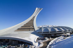 Olympic Stadium i vinter Arkivbild