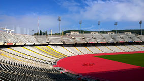 Olympic Stadium Lluis Companys in Barcelona, Spain Stock Photo