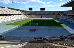 Olympic Stadium Lluis Companys in Barcelona, Spain Stock Images