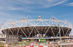 Olympic Stadium London. A view of the Olympic Stadium under construction in East London for the 2012 Olympic Games Stock Photography