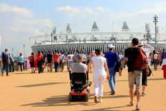 London Olympic Stadium. 2012 Olympic Stadium in London. Hosted athletics for the Summer games Royalty Free Stock Image