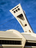 The Olympic Stadium mast. The Olympic Stadium French: Stade olympique is a multi-purpose stadium in Canada, located at Olympic Park in the Hochelaga-Maisonneuve Stock Photography
