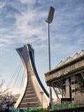 The Olympic Stadium mast and Saputo stadium Stock Photos