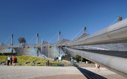 Olympic Stadium München - supporting the roof Royalty Free Stock Image