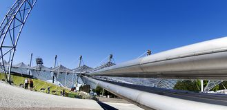 Olympic Stadium München - supporting the roof Royalty Free Stock Photos