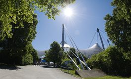 Olympic Stadium München - TV  Tower Stock Photo