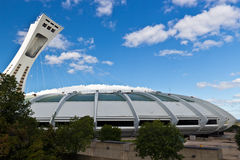 The Olympic Stadium in Monreal, Canada Stock Photos