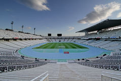Olympic stadium Montjuic Stock Photo