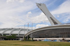 Olympic Stadium in Montreal, Canada Stock Photo