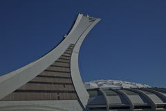 Olympic Stadium in Montreal. The Olympic Stadium is a multi-purpose stadium in Canada, located in the Hochelaga-Maisonneuve district of Montreal, Quebec. Olympic Stock Images