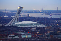 Olympic Stadium in Montreal Stock Photos