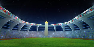 Olympic Stadium night time Royalty Free Stock Image