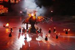 Olympic stadium (NSC Olimpiysky) opening ceremony Royalty Free Stock Photography