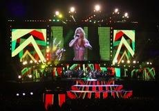 Olympic stadium (NSC Olimpiysky) opening ceremony Royalty Free Stock Images