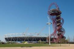 Olympic Stadium och omlopp Royaltyfria Foton