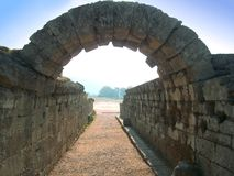Olympic stadium in Olympia. Entrance of the Olympic stadium in Olympia, Greece Stock Photos