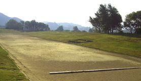 Olympic stadium in Olympia. Greece Stock Images