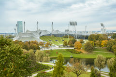 Olympic stadium in Olympiapark, Munich, Germany stock photo