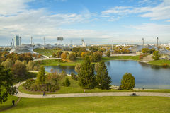 Olympic stadium in Olympiapark, Munich, Germany Stock Image
