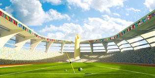 Olympic Stadium - Olympic disciplines of launch Royalty Free Stock Images