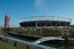 Olympic Stadium omvandling Arkivfoton