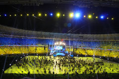 Olympic stadium opening ceremony, Kyiv, Ukraine Stock Images