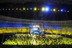 Olympic stadium opening ceremony, Kyiv, Ukraine Stock Images