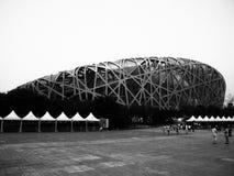 Olympic Stadium Peking Royaltyfri Foto