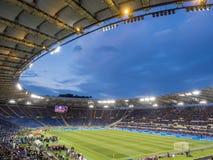 Olympic Stadium Rome välgörenhetfotbollsmatch Royaltyfri Foto