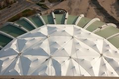 Olympic stadium roof. Section of the Montreal Olympic stadium roof Stock Photos