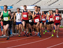 Olympic Stadium Running Event Royalty Free Stock Photography