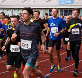Olympic Stadium Running Event Royalty Free Stock Photos