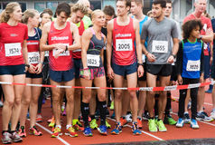 Olympic Stadium Running Event Stock Images