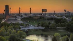 Olympic Stadium tilt-shift look stock video footage
