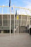 The Olympic Stadium Under Construction For The UEFA EURO 2012 Stock Photos