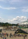 Olympic Stadiun. Some motocross action at the olympic stadium in montreal stock image