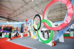 olympic stand för kinesisk kommitté Arkivbilder