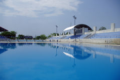 Olympic standard Swimming and diving Pool Royalty Free Stock Images