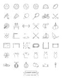 Olympic Summer Games Line Icons Collection Royalty Free Stock Images