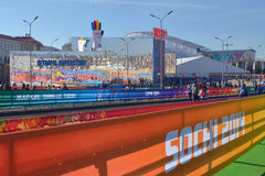 Olympic superstore in Sochi Royalty Free Stock Image
